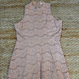Blush high neck dress